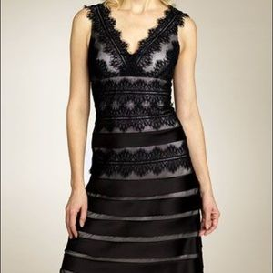 JS Collections Black Lace Tiered Dress